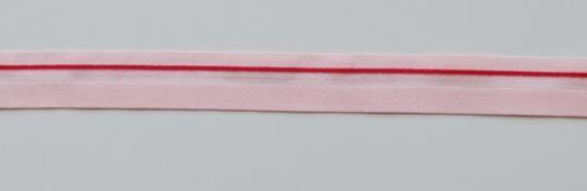 Paspelband rosa rot 15mm