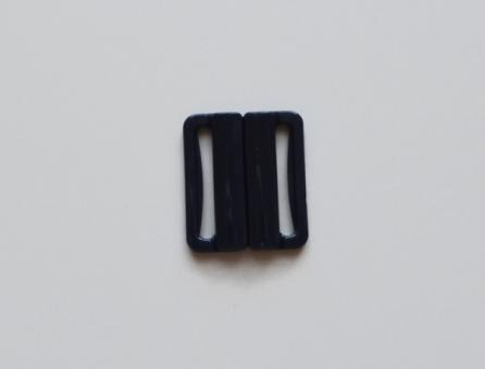 Bikiniverschluss Kunststoff blau marine 25mm