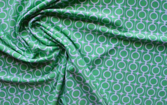 Badeware weiß grün Muster