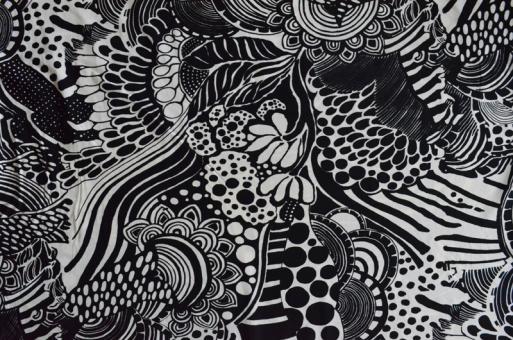 Badeware schwarz weiß Muster