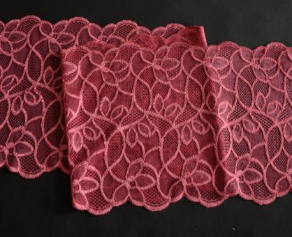 Spitzenband erd rot 19,5cm Meterware