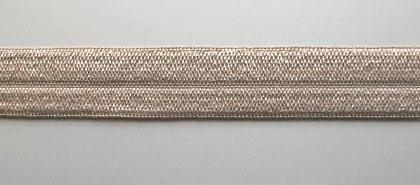 Paspelband braun grau 14mm