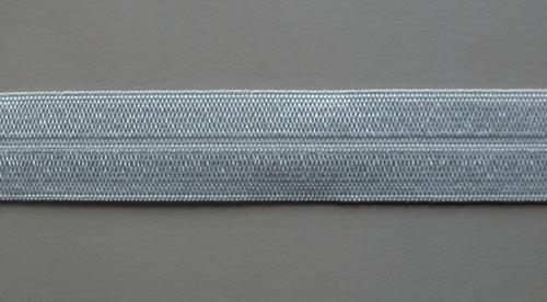 Paspelband grau silber 16mm