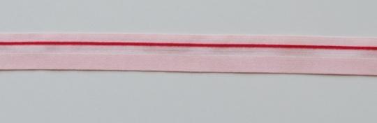 Paspelband  Farbrichtung babyrosa rot 15mm