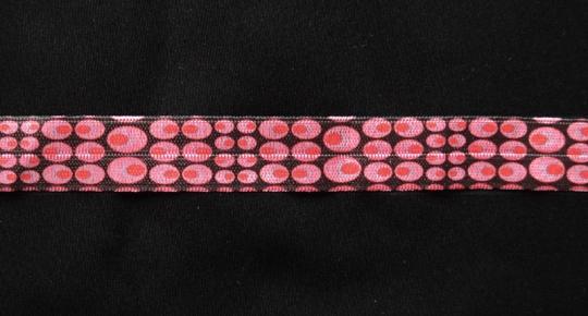 Paspelband braun rot gemustert 11mm