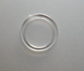 Ring Kunststoff transparent  10mm