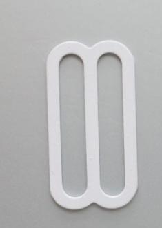 Schieber metall weiß 20 mm