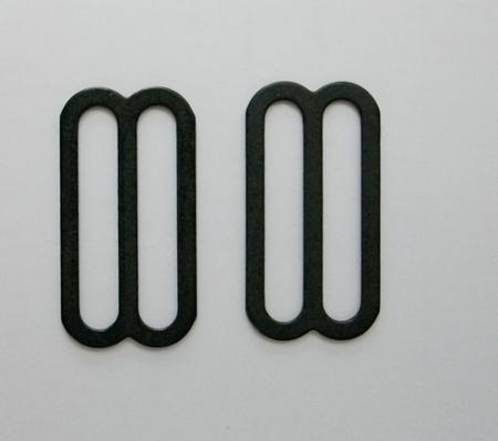 Schieber metall schwarz  30mm