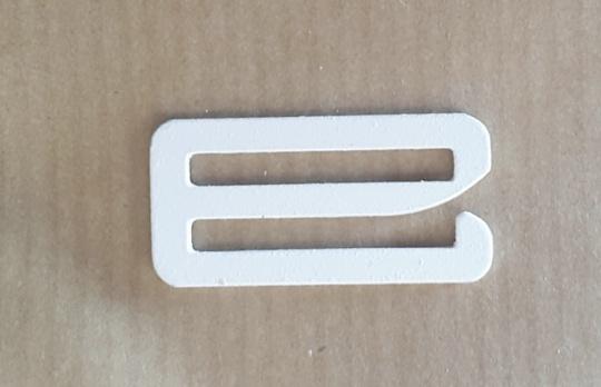 Haken metall weiß 20mm