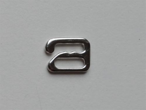 Haken metall silber 8-9mm