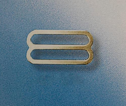 Schieber metall silber Miralloy 18mm