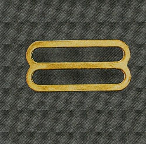 Schieber metall vergoldet 20mm