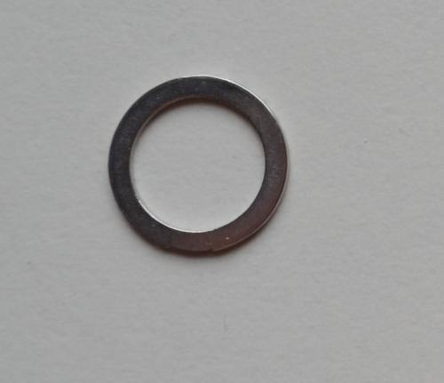 Ring metall silber Miralloy10mm