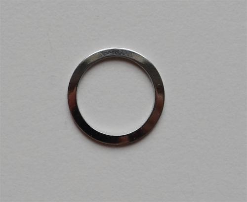 Ring metall silber Miralloy 12mm
