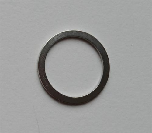Ring metall silber Miralloy 14mm