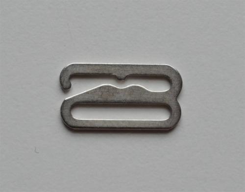 Haken metall silber 17mm Miralloy