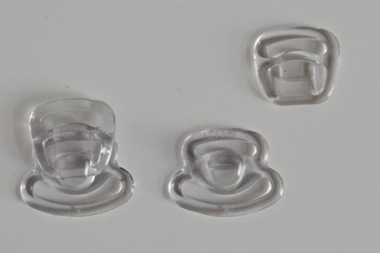 2 Stück Still BH Verschluss Kunststoff transparent 2- teilig