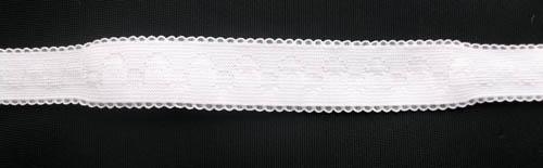 Trägerband weiß geformt  20 - 25mm