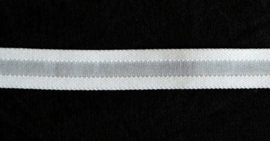 Trägerband weiß durchbrochen 16mm