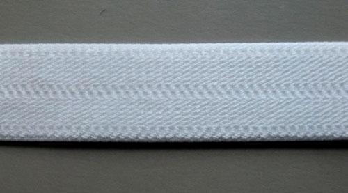 Trägerband weiß mit Baumwolle 18mm