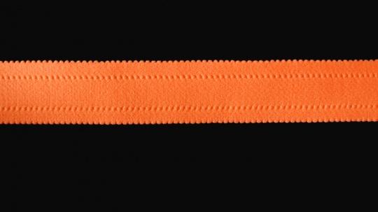 Trägerband  orange leuchtend gepolstert 25mm