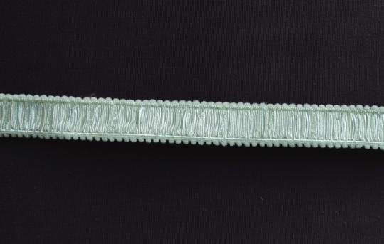 Trägerband grün pistazie gerüscht 14mm