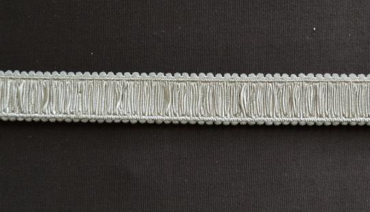 Trägerband grau gelblich gerüscht 14mm