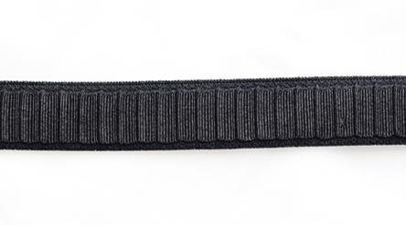 Trägerband schwarz Falten 12-13mm