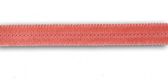 Trägerband rot hummer mit kleinen Bögen 14-15mm