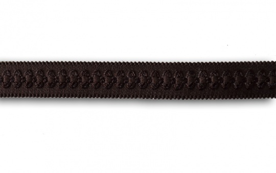 Trägerband braun mit Muster 18-19mm