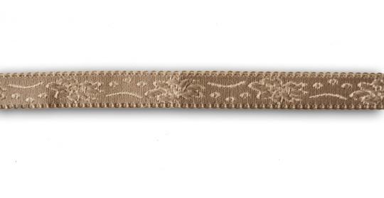 Trägerband beige -braun mit  Bögen und Muster 15-16 mm