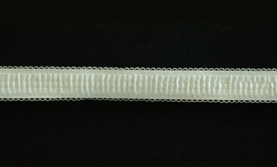 Trägerband grün mint  gerafft mit kleinen Bögen 14-17mm