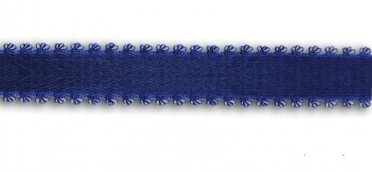 Trägerband blau 13-17mm Pikotkante