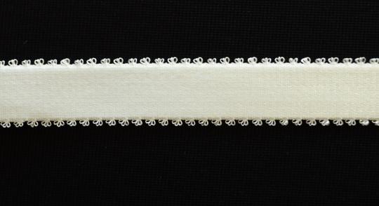 "Trägerband ""dark ecru"" 15-19mm Pikotkante"