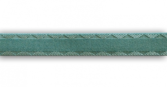 Trägerband  seegrün 15mm Muster