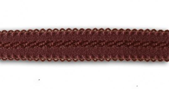 """Trägerband rot """"Mauvewein """" 12-15mm Muster Schlaufen"""