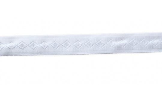 Trägerband weiß Muster 21mm