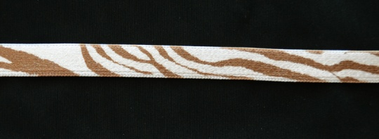Trägerband Farbrichtung mandelcreme/ café crema gemustert 11mm