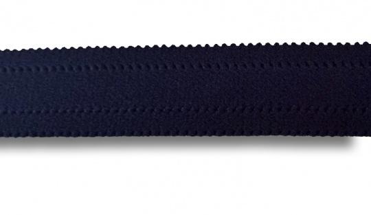 Trägerband blau dunkel mit Bögelchen  gepolstert 25mm