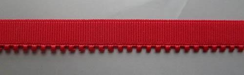 Unterbrustgummi rot leuchtend 9mm