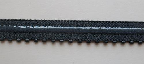 Unterbrustgummi schwarz silikonbeschichtet 12mm