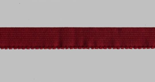 Unterbrustgummi rot dunkel 13-14mm