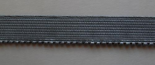 Unterbrustgummi grau 15mm