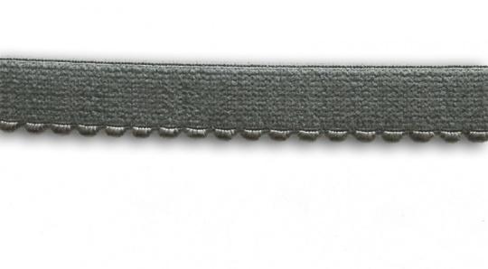 Unterbrustgummi grau 15-16mm mit Bögen