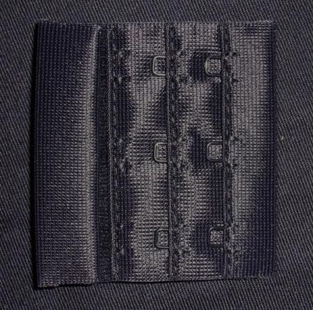 Verschluss schwarz 55mm gepackt als Stück