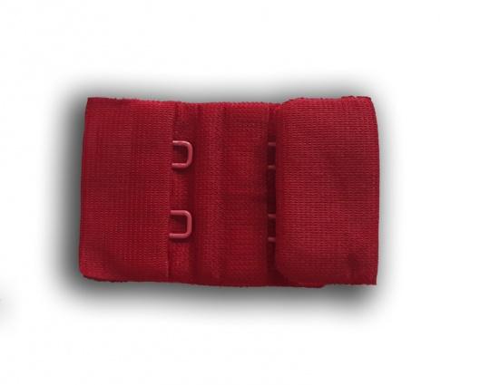 Verschluss rot dunkel 30mm gepackt als Stück