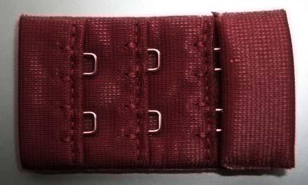 Verschluss Farbrichtung weinrot dunkel  30mm gepackt als Stück