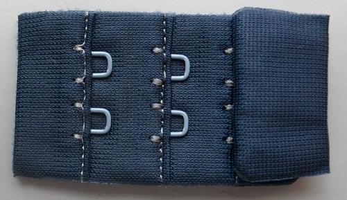 Verschluss blau dunkel 30mm gepackt als Stück