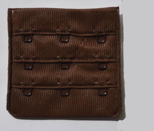 Verschluss  Farbrichtung braun dunkel 55mm  gepackt als Stück