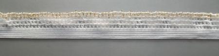 Zierlitze weiß gold Rüsche 16mm